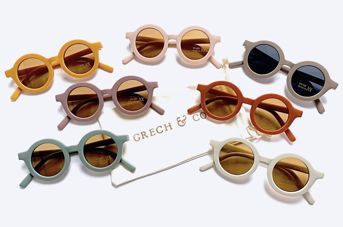 Sustainable kids sunglasses - Golden-8