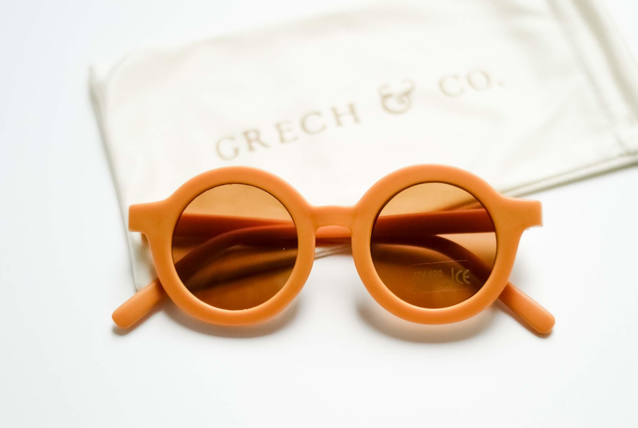 Sustainable kids sunglasses - Golden-2
