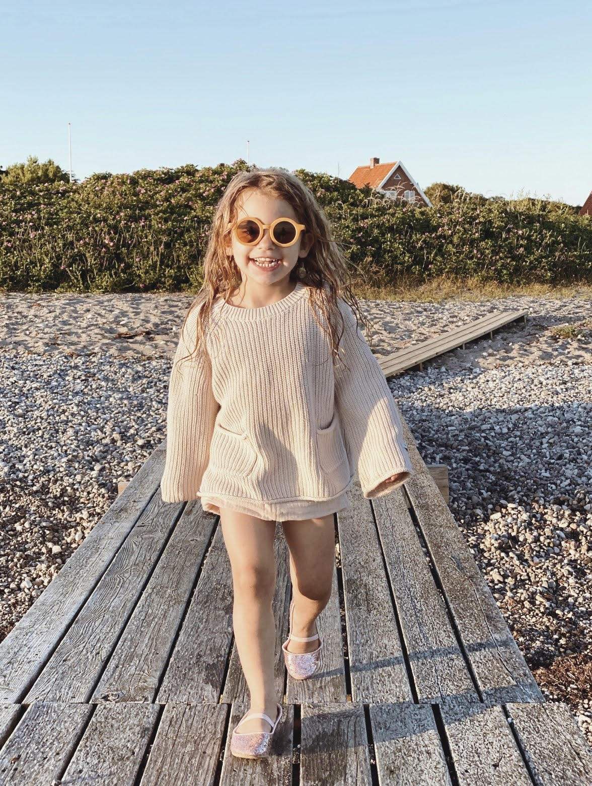 Sustainable kids sunglasses - Golden-7