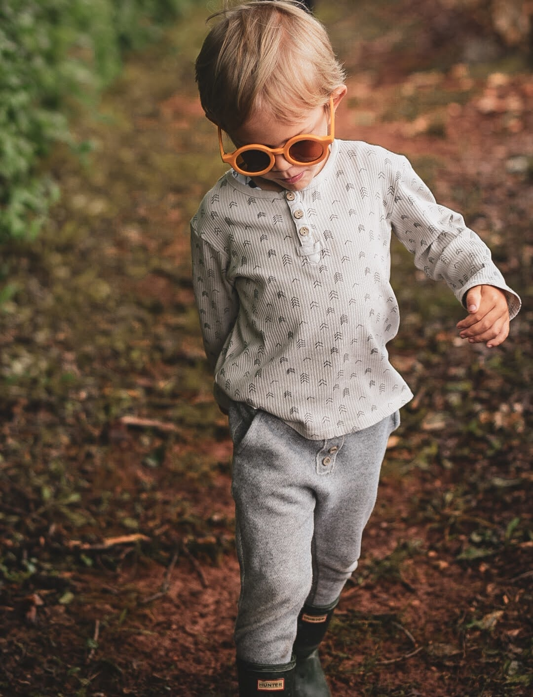 Sustainable kids sunglasses - Golden-6