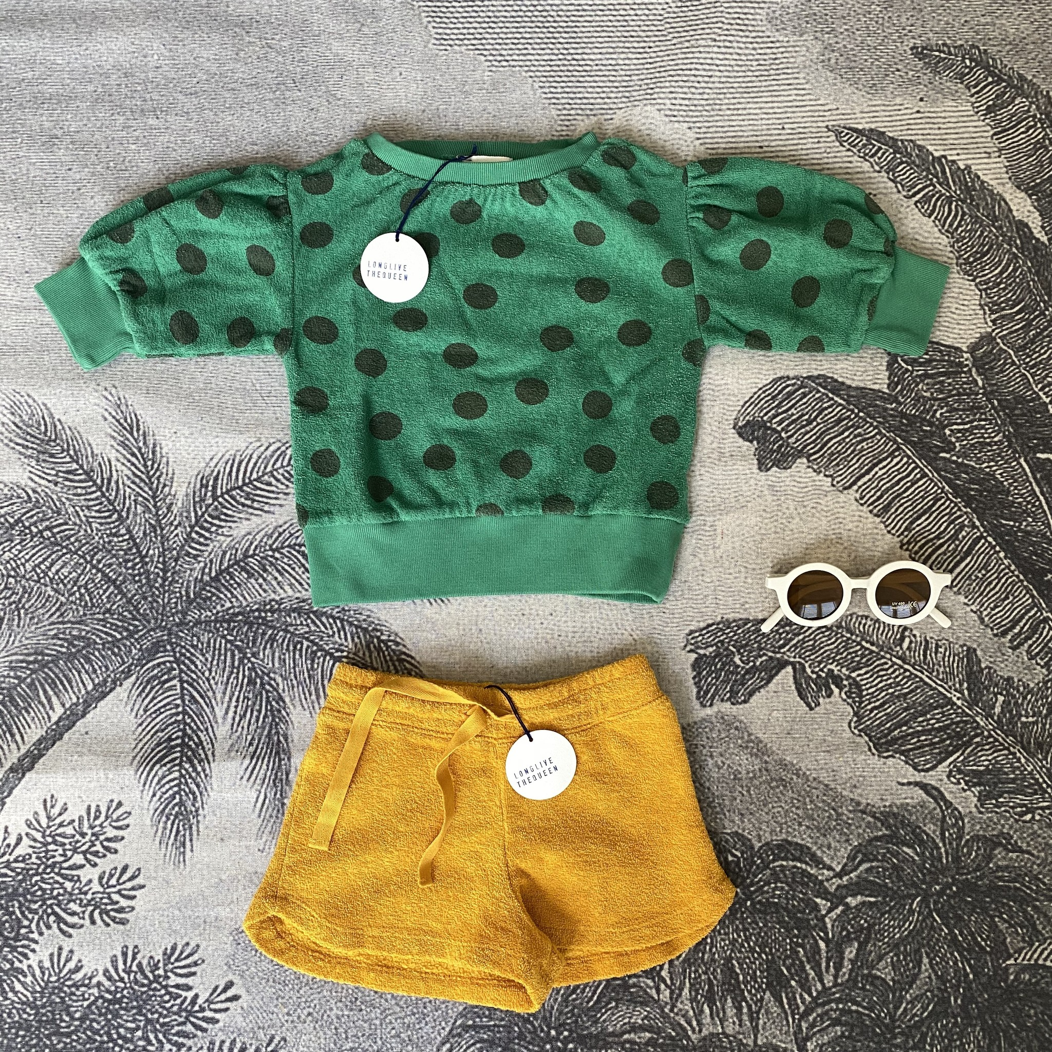 Sweater Terry Green Dots-8