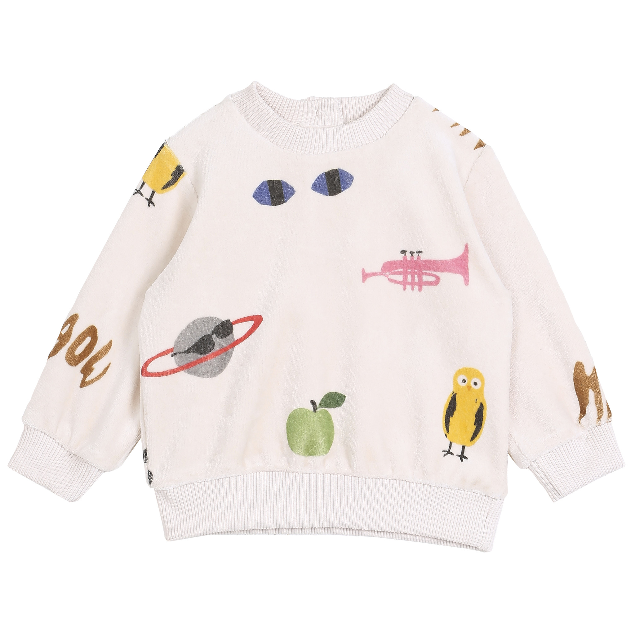 Sweatshirt Ecru Multi-1