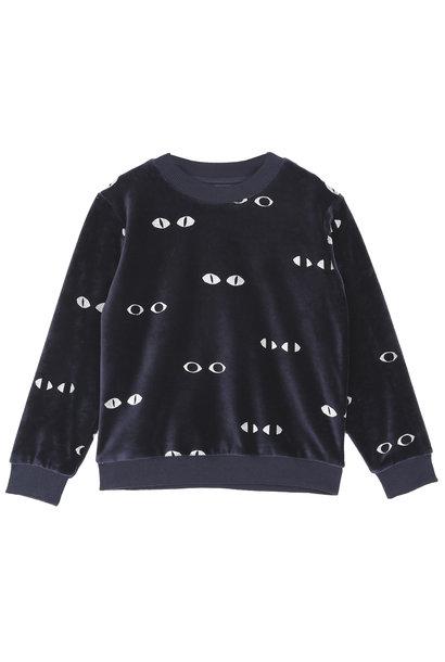Sweatshirt Velvet Bitume Eyes