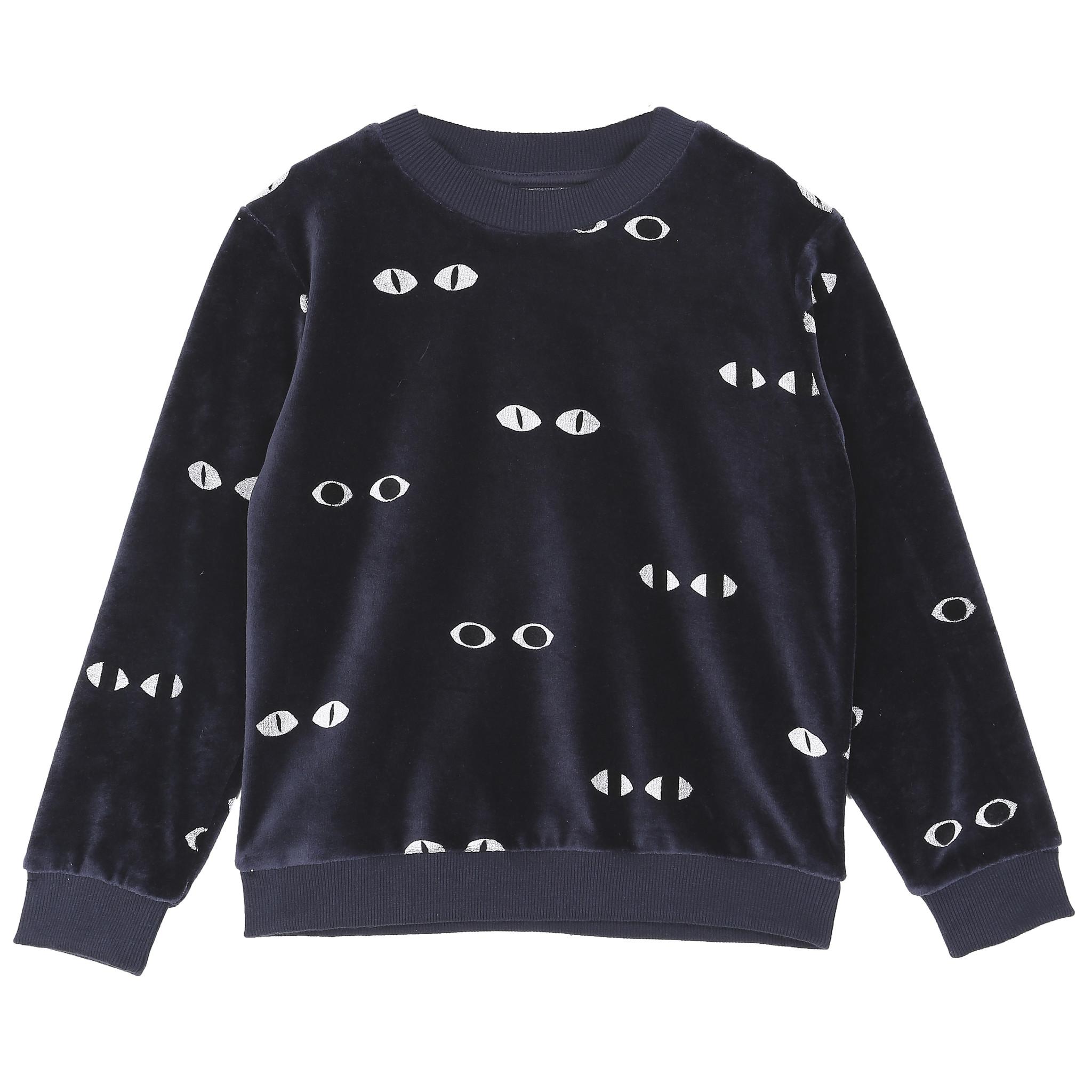 Sweatshirt Velvet Bitume Eyes-1