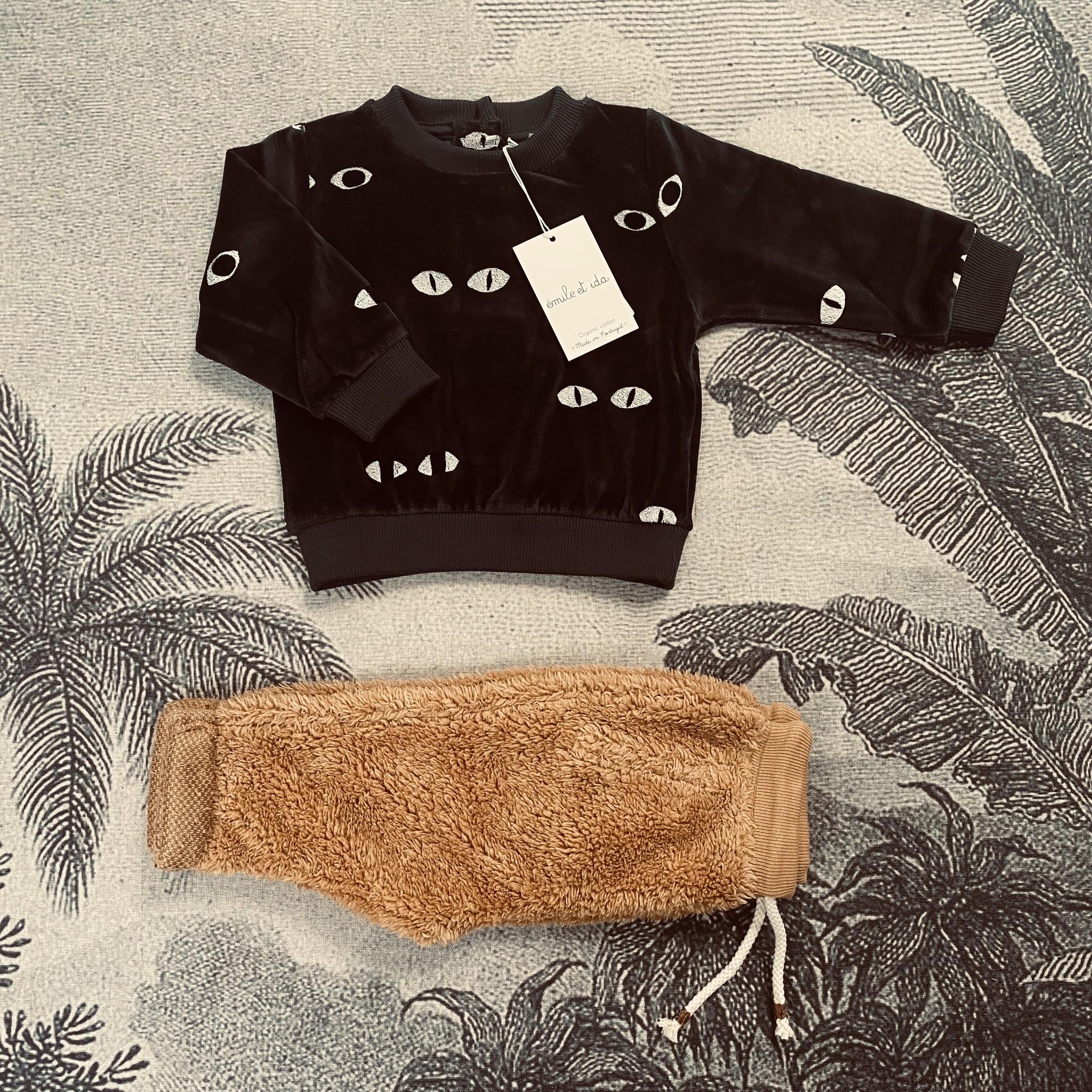 Sweatshirt Velvet Bitume Eyes-2