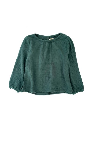 Blouse Crinkle Dark Green