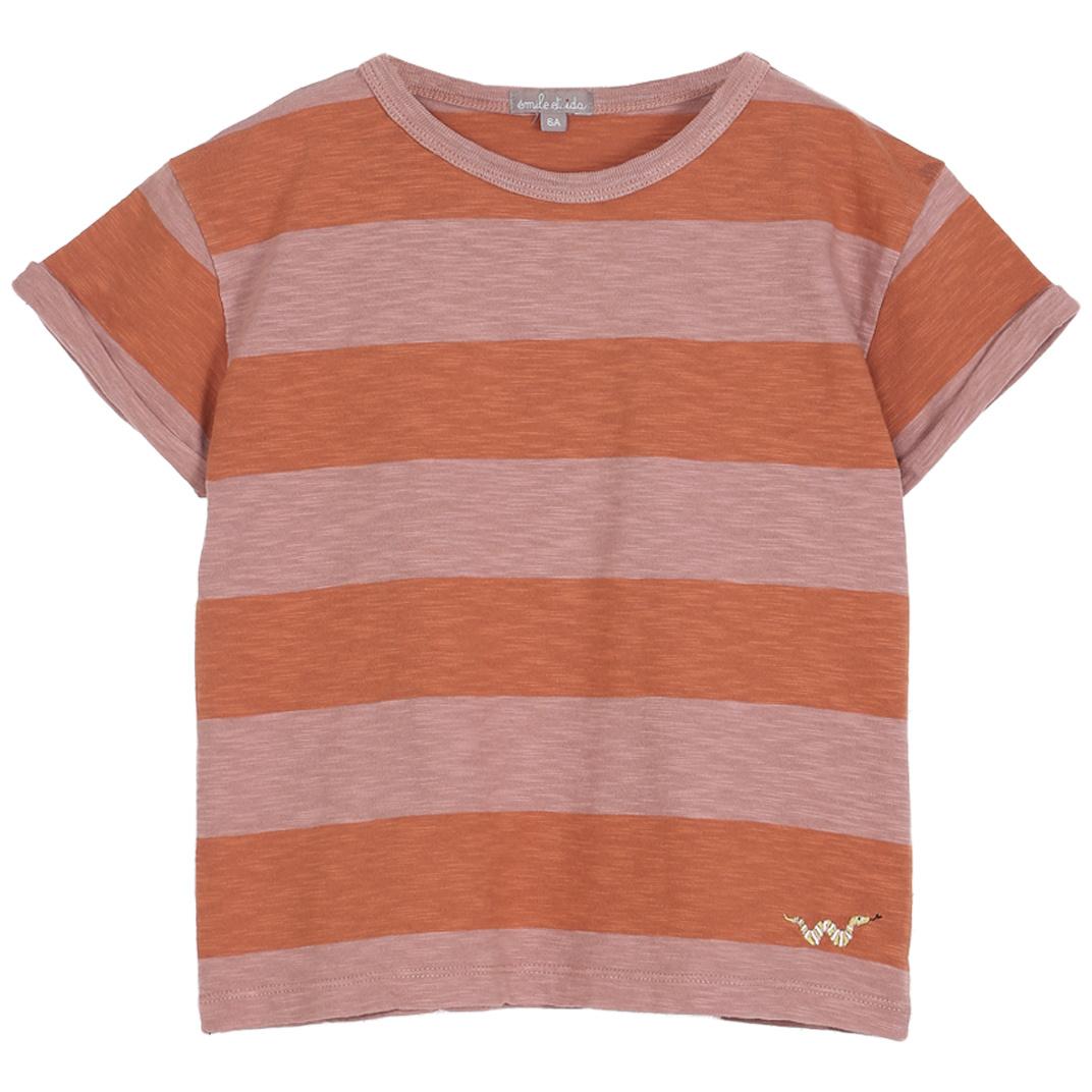 T-shirt Terre-Orange-1