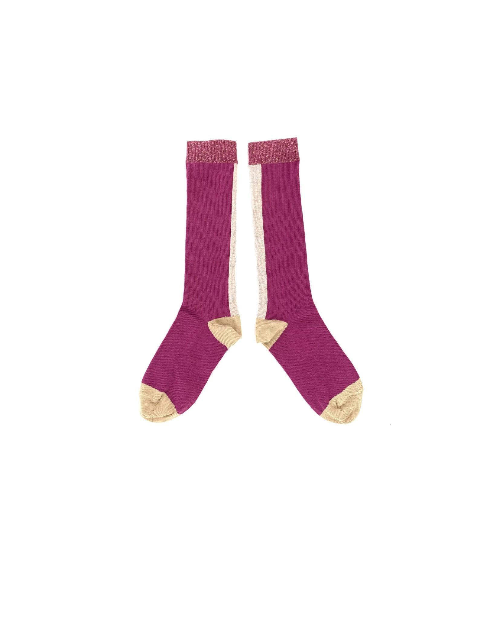 Kneesocks Purple-1