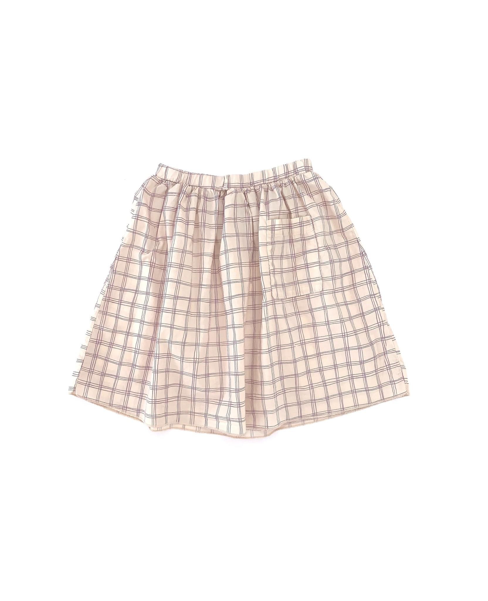 Skirt Purple Check-1
