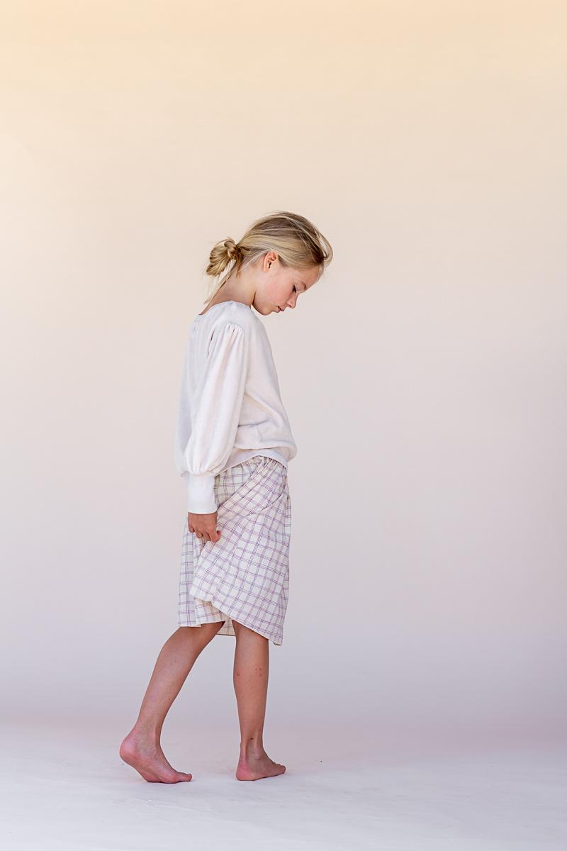 Skirt Purple Check-2