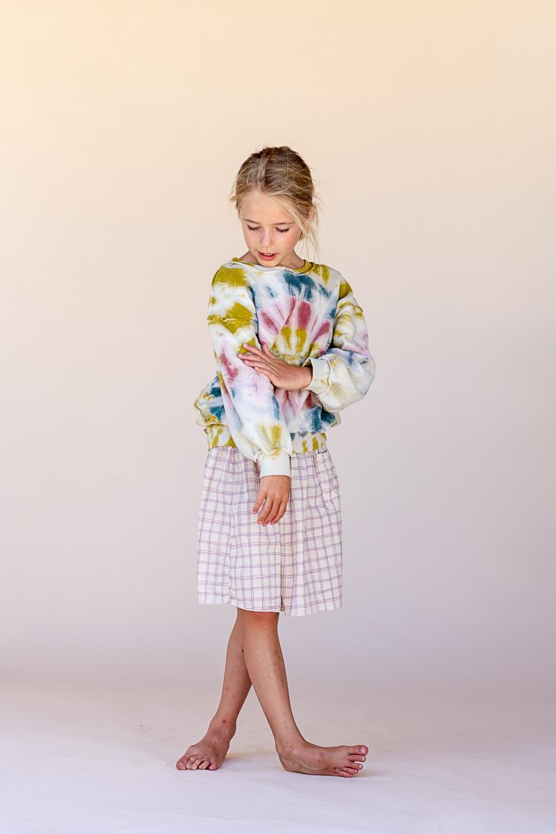 Skirt Purple Check-4