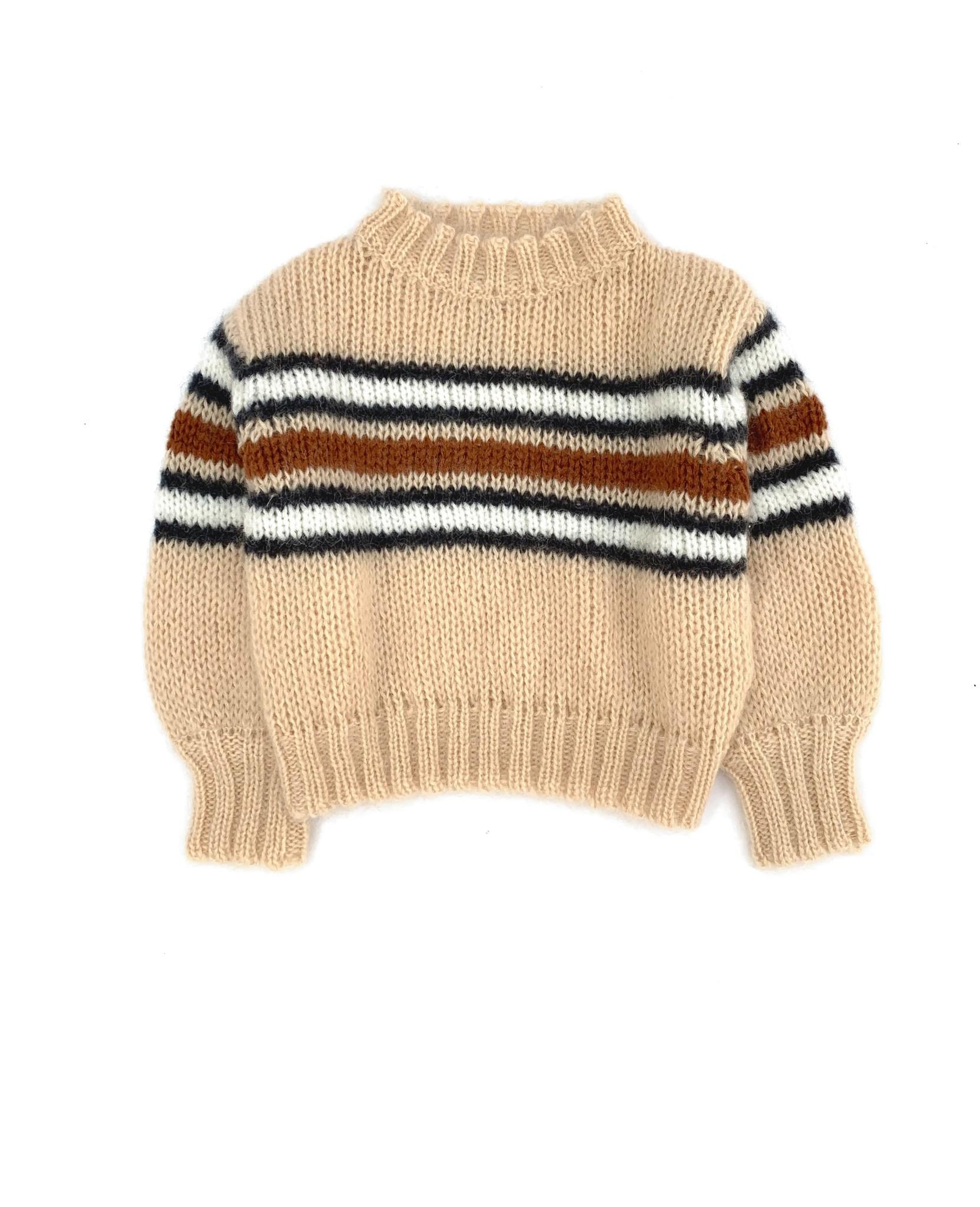 Sweater Natural Stripe-1