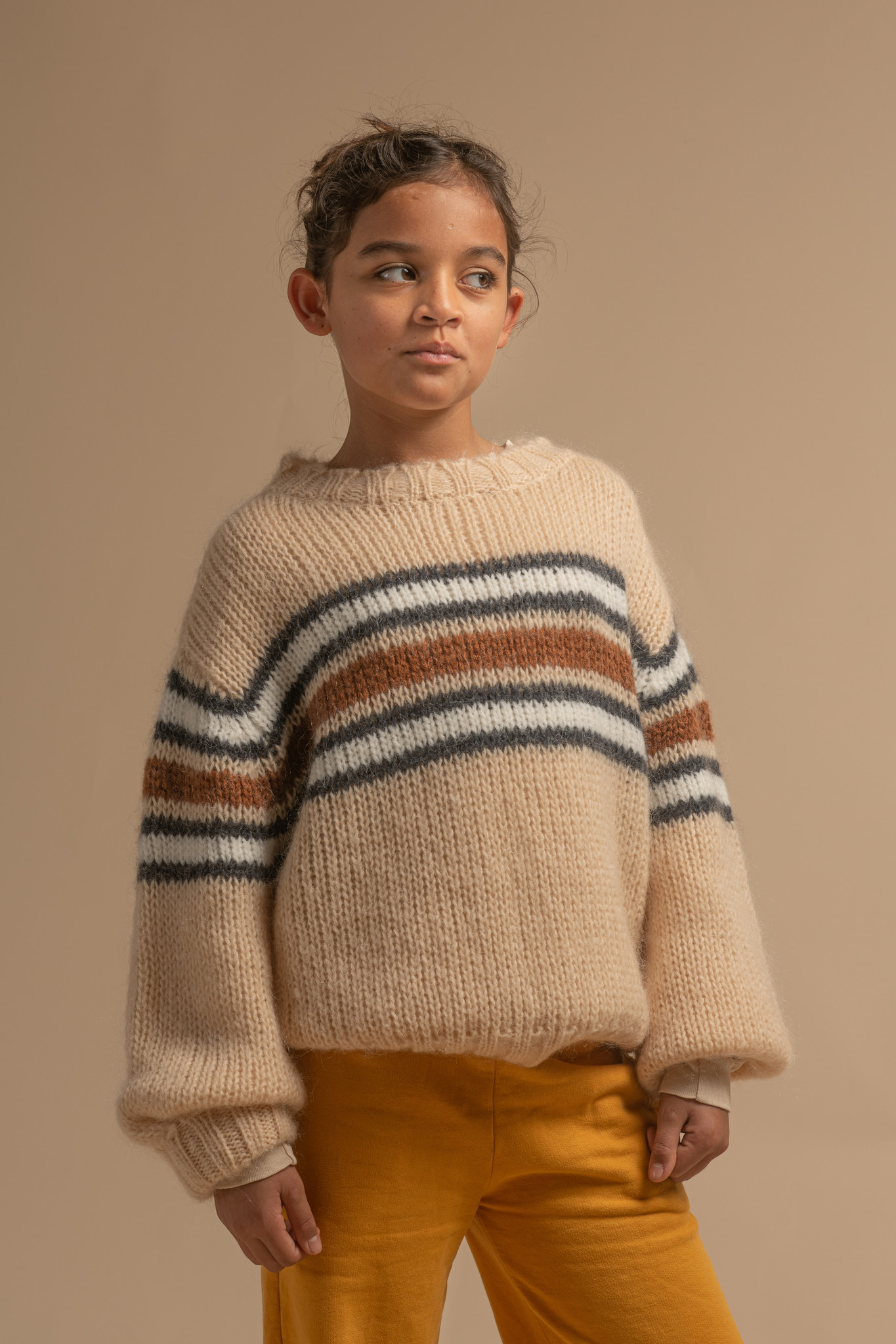 Sweater Natural Stripe-3