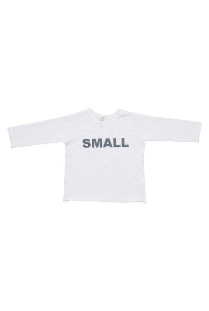 T-shirt Bianco Stampa Azurro