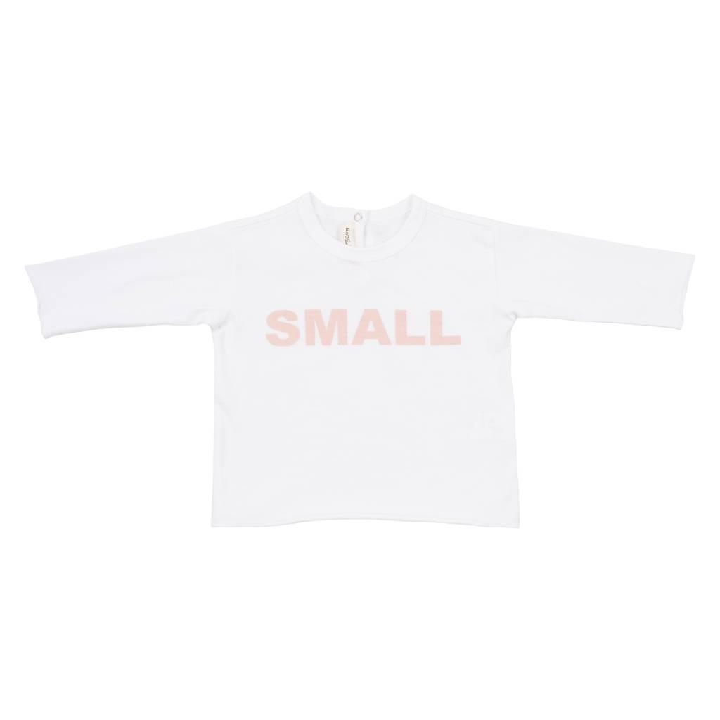 T-shirt Bianco Stampa Rosa-1