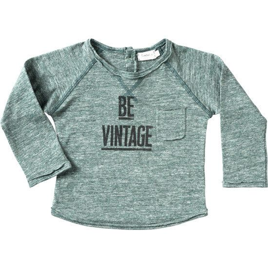 T-shirt Be Vintage - Green-1