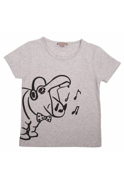 T-shirt Gris Chine Hippo
