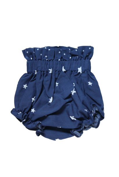 Blue diapers pants with white stars