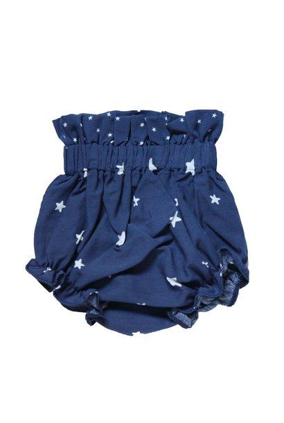 Luierbroekje kort blauw met witte sterren