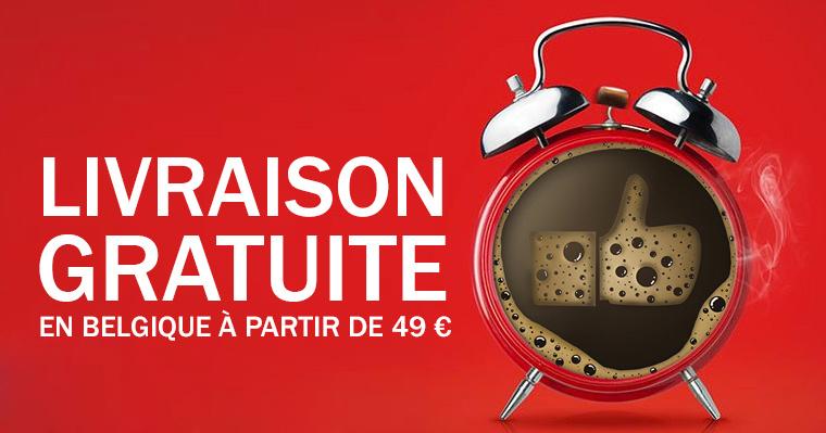 Livraison de Café, Thé et Chocolat Gratuite en Belgique à partir de 49 euros