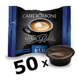 Caffè Borbone LAVAZZA A MODO MIO - DON CARLO BLU - 50 capsules BORBONE
