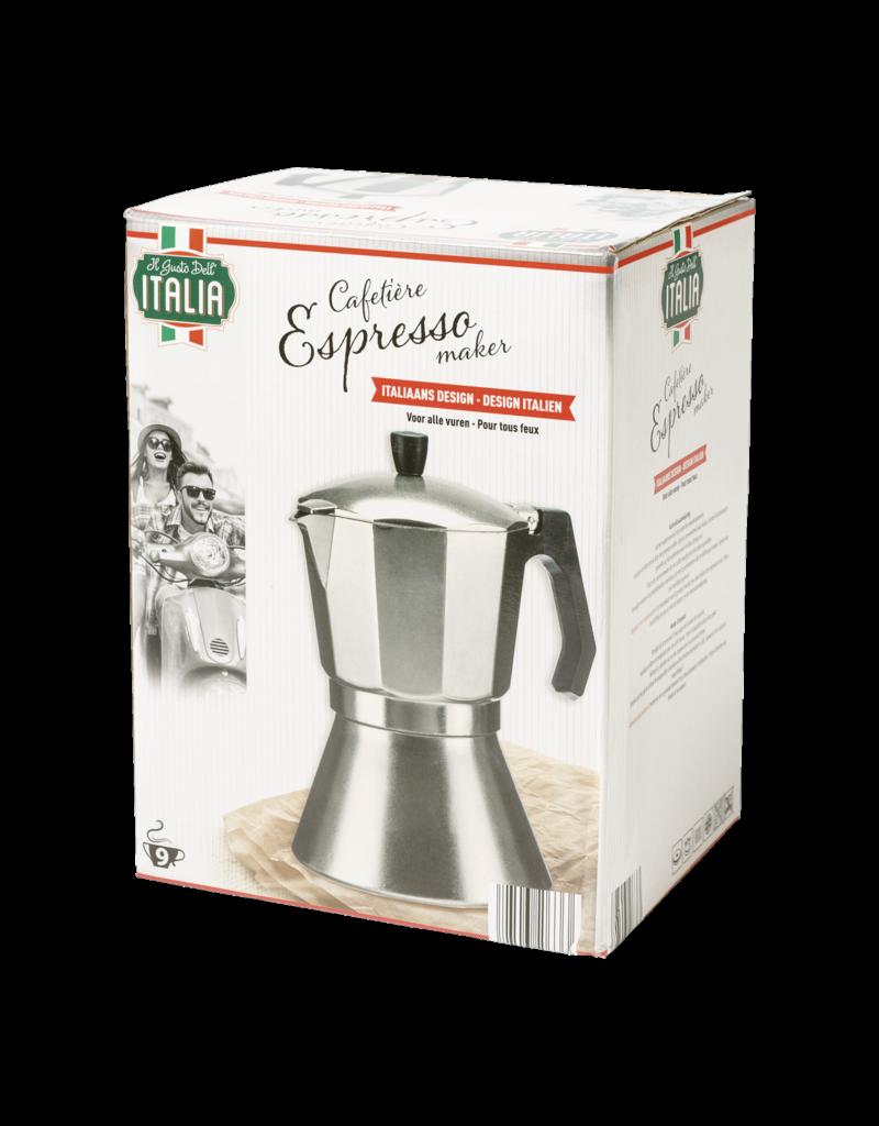 CAFETIÈRE MOKA - 9 TASSES - ITALIA ALU