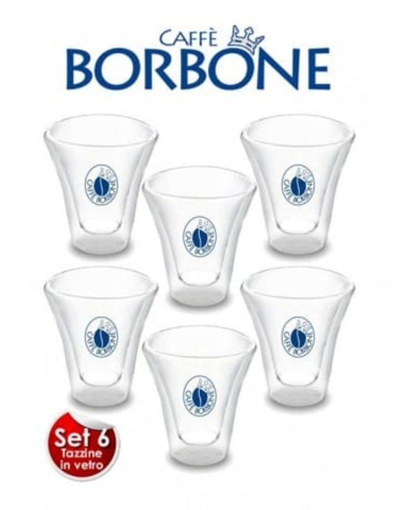 Caffè Borbone VERRES À ESPRESSO X6 - BORBONE