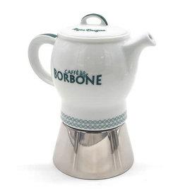 Caffè Borbone CAFETIÈRE VERTE (MOKA  4 TASSES) BORBONE + 1 Kg MOULU OFFERT