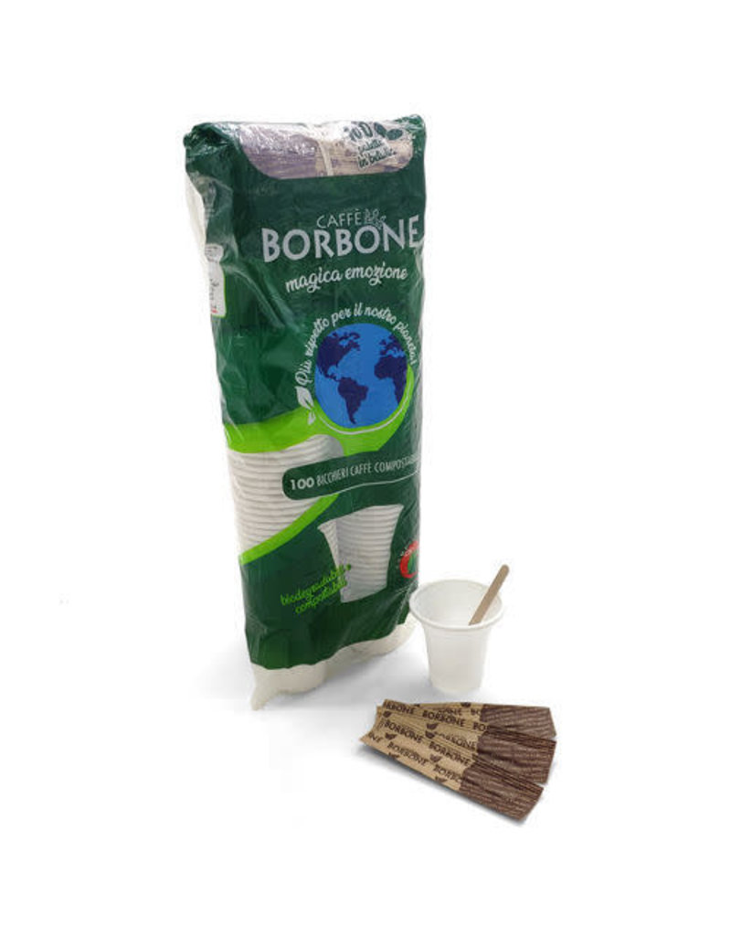 Caffè Borbone KIT GOBELETS BIODÉGRADABLES BORBONE