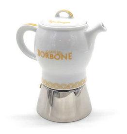 Caffè Borbone CAFETIÈRE MOKA JAUNE - 4 TASSES BORBONE + 1 Kg MOULU OFFERT