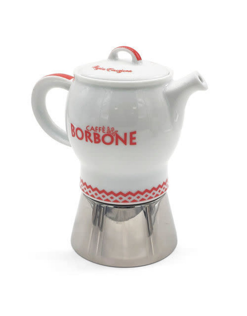Caffè Borbone CAFETIÈRE MOKA ROUGE - 4 TASSES BORBONE + 1 Kg MOULU OFFERT
