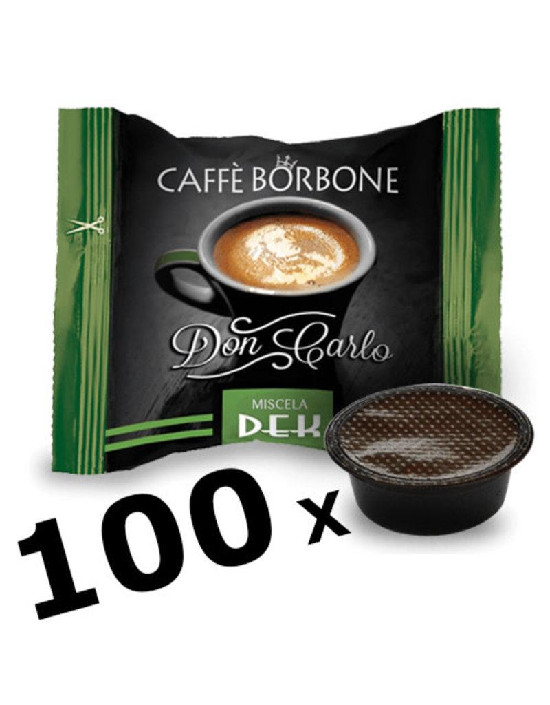 Caffè Borbone LAVAZZA A MODO MIO - DON CARLO DEK - 100 capsules BORBONE