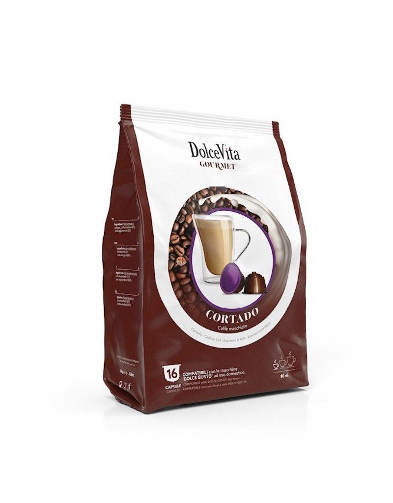 DolceVita DOLCE GUSTO - CORTADO (Caffè Macchiato) - 16 capsules