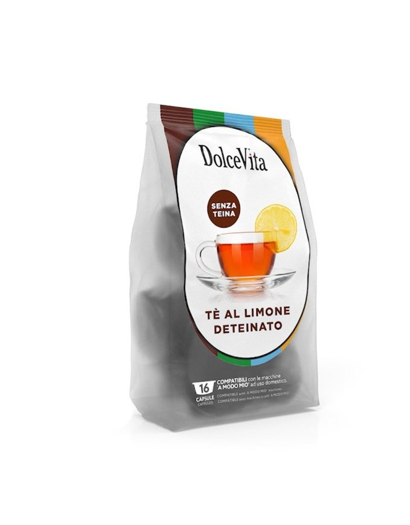 DolceVita LAVAZZA  A MODO MIO - THÉ DÉTHÉINÉ CITRON (deteinato té limone) - 16 capsules