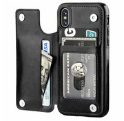 ShieldCase® Wallet Case iPhone X / Xs (zwart)