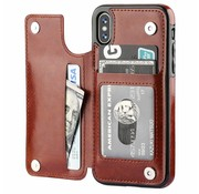 ShieldCase Wallet Case iPhone X / Xs (bruin)