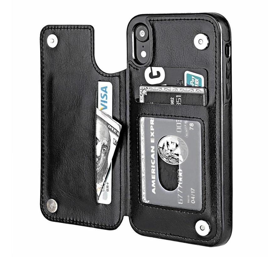 ShieldCase Wallet Case iPhone Xr (zwart)