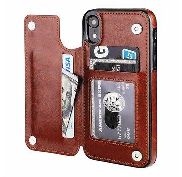 ShieldCase® Wallet Case iPhone Xr (bruin)