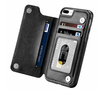 ShieldCase Wallet Case iPhone 8 Plus / 7 Plus (zwart)