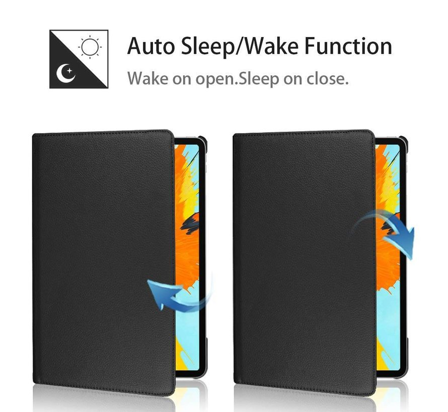 360 book case zwart iPad Pro 2018 (12.9 inch)