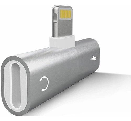 ShieldCase® ShieldCase iPhone Lightning splitter adapter 2-in-1 audio en opladen (zilver)