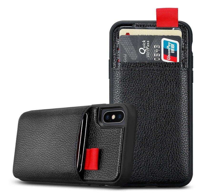 ShieldCase Leren case met pashouder iPhone X / Xs