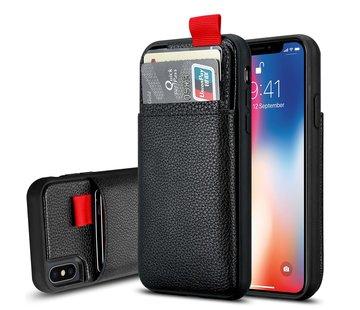 ShieldCase® Leren case met pashouder iPhone X / Xs
