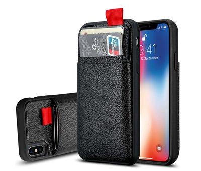 ShieldCase® ShieldCase Leren case met pashouder iPhone X / Xs