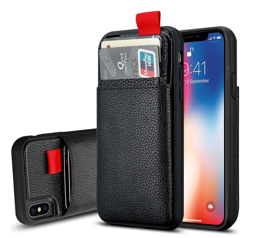 ShieldCase Leren case met pashouder iPhone Xs Max