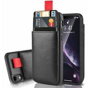 ShieldCase® Leren case met pashouder iPhone Xr