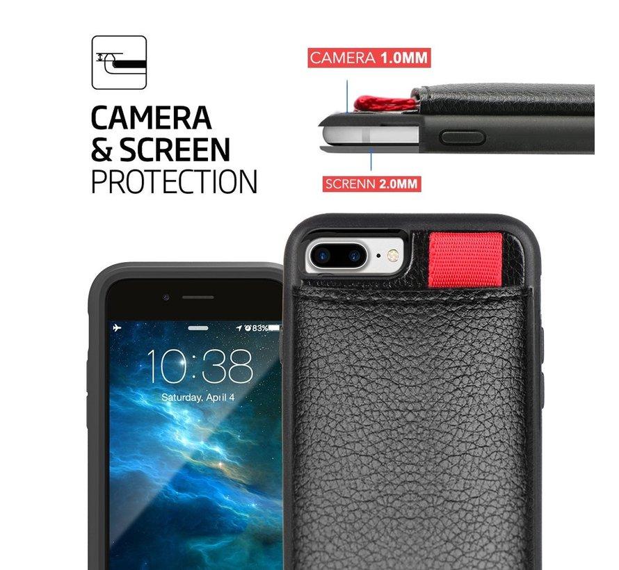 ShieldCase Leren case met pashouder iPhone 8 Plus / 7 Plus