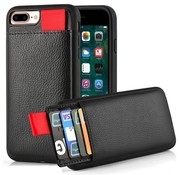 ShieldCase® Leren case met pashouder iPhone 8 Plus / 7 Plus