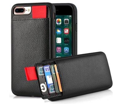 ShieldCase® ShieldCase Leren case met pashouder iPhone 8 Plus / 7 Plus