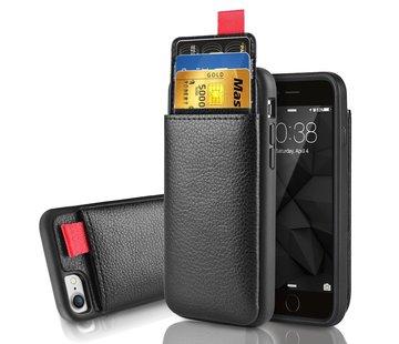 ShieldCase® Leren case met pashouder iPhone 8 / 7